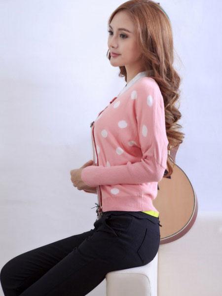 淑女日记女装品牌2020春夏新款波点长袖衬衫