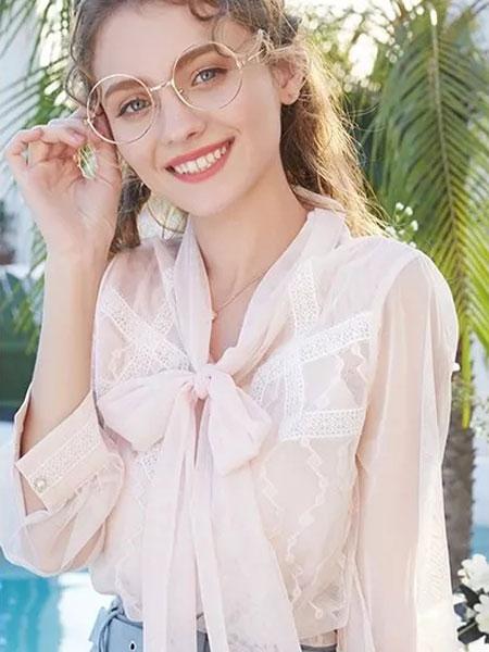 莉雅莉萨女装品牌2020春夏新款纯色真丝衬衫 百搭时尚