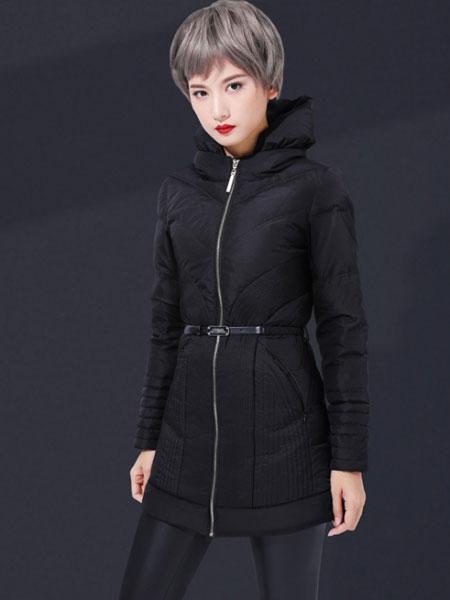 Candy&Ryan女装品牌2019秋冬新款纯色羽绒夹克