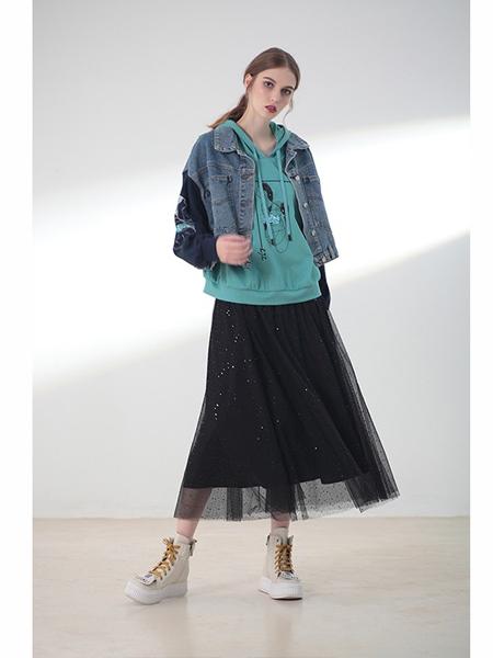 莉佳丽女装品牌2019秋冬短款牛仔夹克