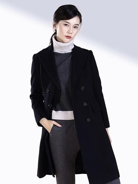 SENCELAND三石一澜女装品牌2019秋冬时尚毛呢大衣