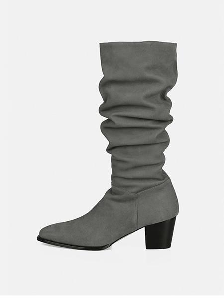 MENODEMOSSO国际品牌长筒靴显瘦高跟鞋