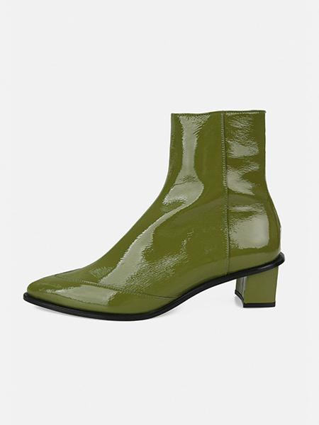 MENODEMOSSO国际品牌品牌亮面短靴