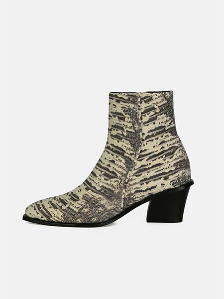 MENODEMOSSO国际品牌品牌图案短靴