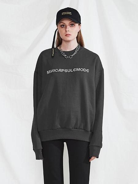 MINI CAPSULE国际品牌品牌2020春夏烟灰色卫衣