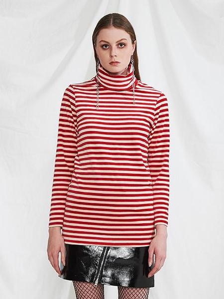 MINI CAPSULE国际品牌品牌2020春夏红白条纹打底衫