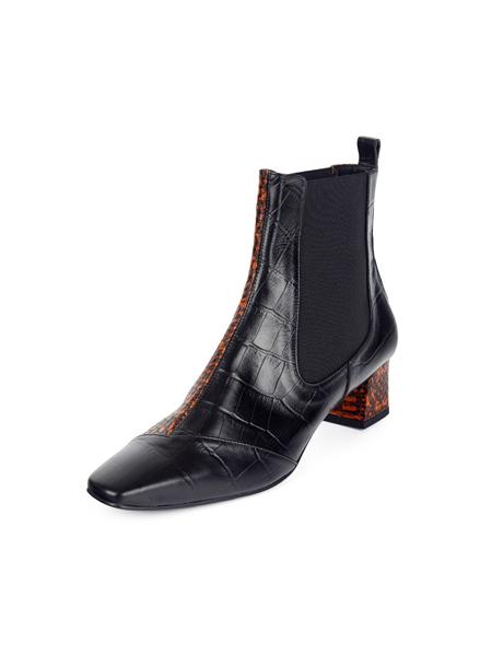MISSUE国际品牌品牌2020春夏粗跟亮面短靴