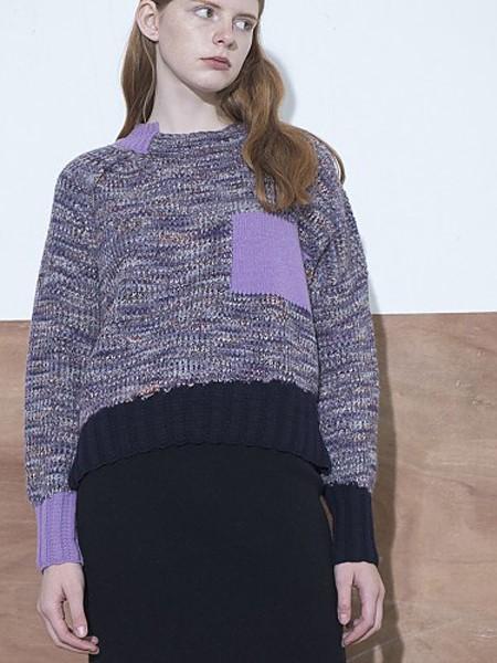 MOONHEE国际品牌品牌温柔紫色毛衣