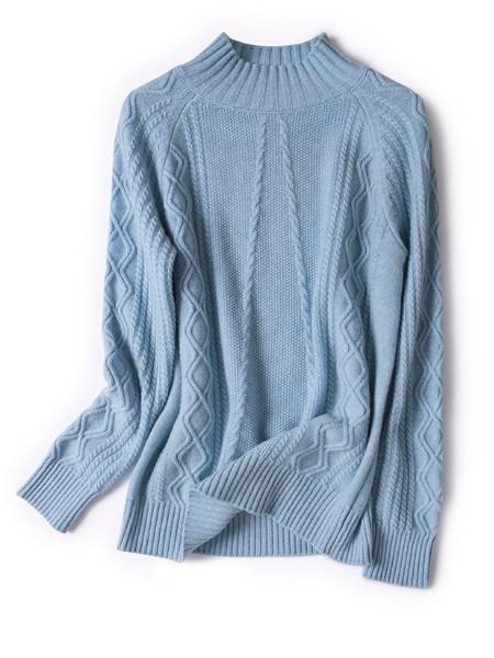 纳匹休女装 韩版半高领新款纯羊绒衫套头日系毛衣长袖针织衫包邮
