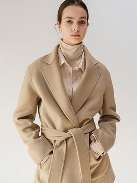 MOONTAN国际品牌品牌收腰毛呢大衣