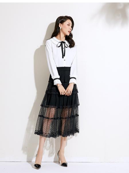 爱依莲女装品牌2020春夏学院风衬衣