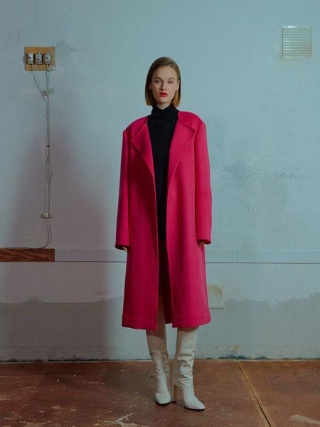MUDIDI国际品牌品牌2019秋冬Nocollar开放式外套001粉色
