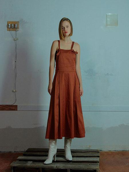 MUDIDI国际品牌品牌2020春夏吊带连衣裙002棕色