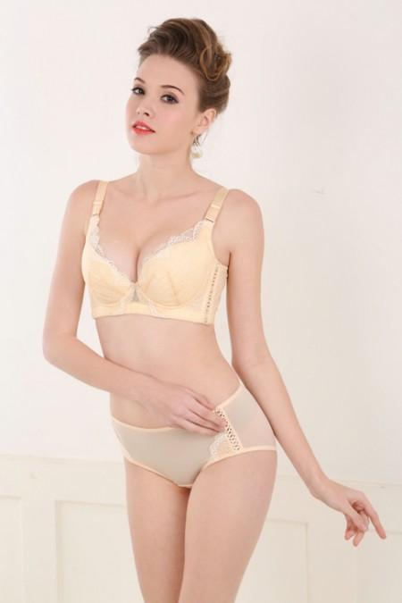 英姿丽人内衣品牌2020春夏新款纯色蕾丝花纹性感内衣