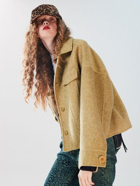 naturalizer国际品牌品牌2019秋冬单排扣廓形手工双面尼短夹克