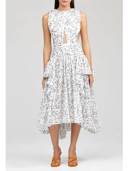 Acler国际品牌品牌2020春夏格罗夫纳礼服