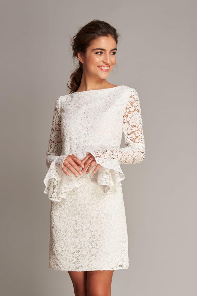 Fabienne Alagama国际品牌品牌2020春夏新款蕾丝花纹连衣裙