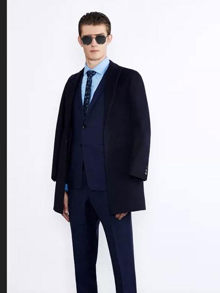 华萨尼男装品牌2019秋冬新款纯色成熟西装外套