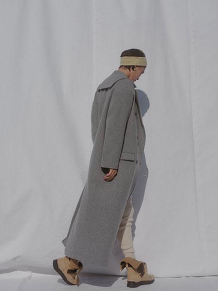 FUMIKA_UCHIDA国际品牌品牌2019秋冬新款纯色毛呢立领大衣