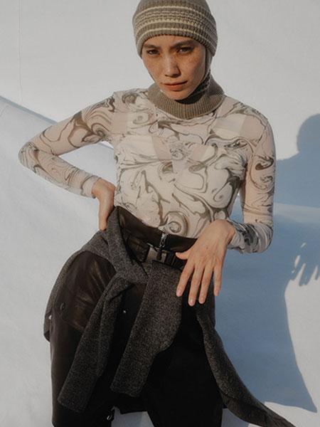 FUMIKA_UCHIDA国际品牌品牌2019秋冬新款泼墨风格长袖内衬衣
