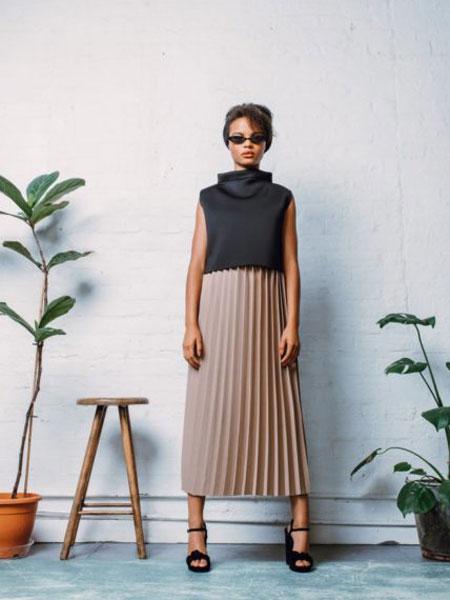 StaSa国际品牌品牌2020春夏新款纯色条纹半身裙