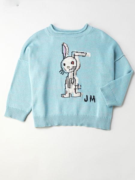 Jane Marple国际品牌品牌2020春夏新款图案简洁长袖毛衣