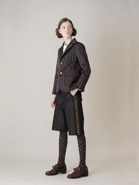 Jane Marple国际品牌品牌2020春夏T / C人字纹荷叶色外套
