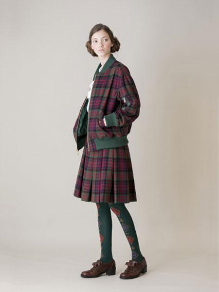 Jane Marple国际品牌品牌2020春夏军装条纹西装外套