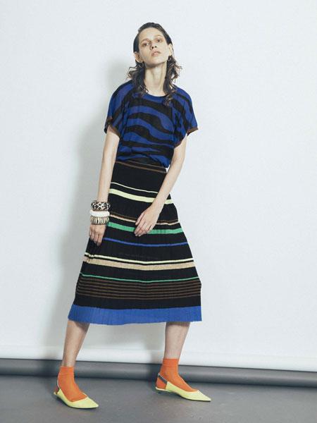1/2 Un Demi国际品牌品牌2020春夏新款多色条纹连衣裙