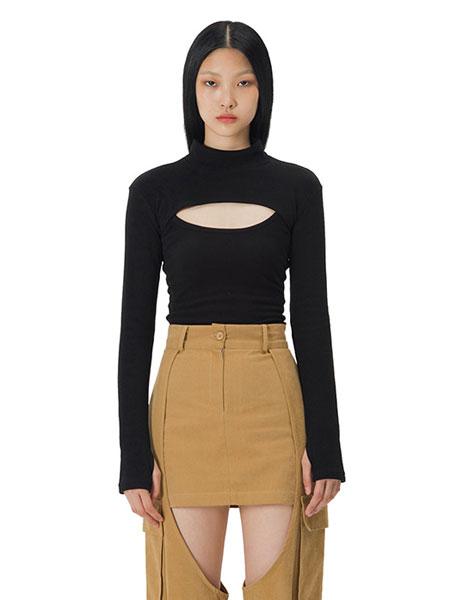 Curetty国际品牌品牌2020春夏C双向T恤_黑色