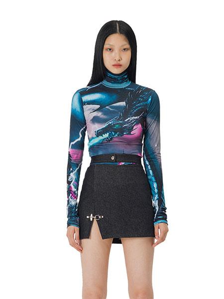 Curetty国际品牌品牌2020春夏C涂鸦T恤_黑色