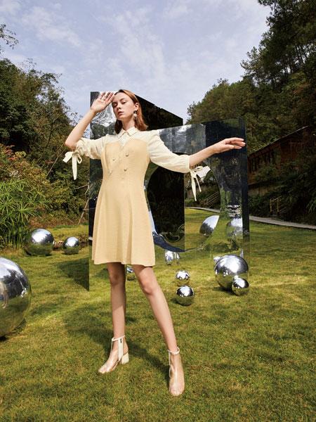 你即永恒女装品牌2020春夏新款纯色清新连衣裙