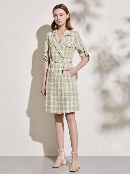 你即永恒女装品牌2020春夏新款格子连衣裙