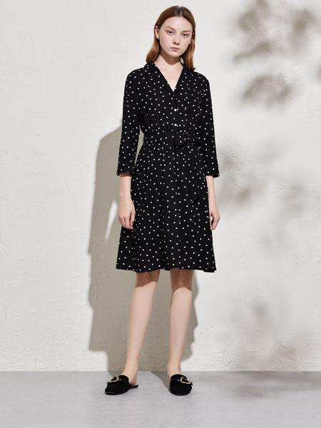 你即永恒女装品牌2020春夏新款波点连衣裙
