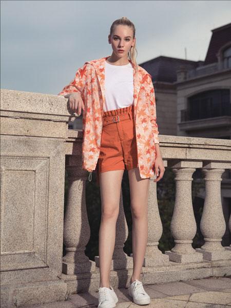 依贝奇女装品牌2020春夏新款印花清新外套