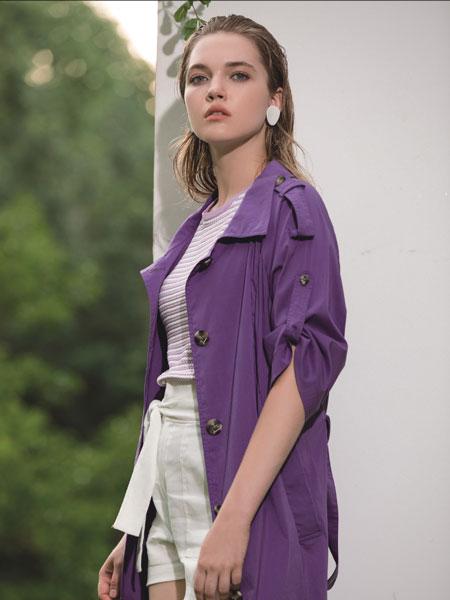 浩洋国际女装品牌2020春夏新款纯色纽扣夹克