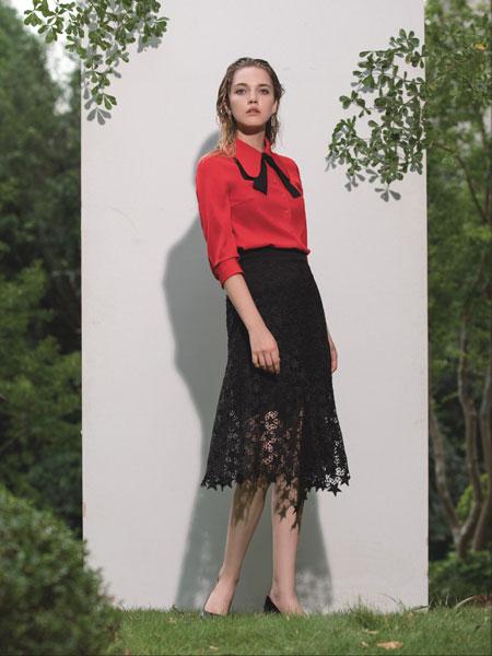 浩洋国际女装品牌2020春夏新款真丝纯色纽扣长袖上衣