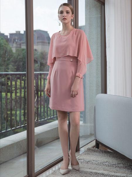 浩洋国际女装品牌2020春夏新款纯色连衣裙