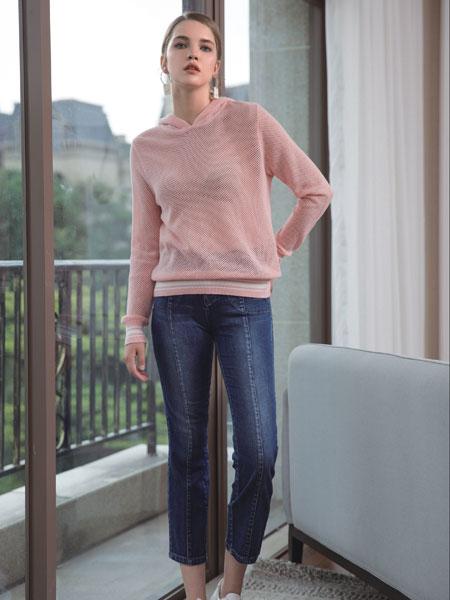 浩洋国际女装品牌2020春夏新款纯色针织毛衣
