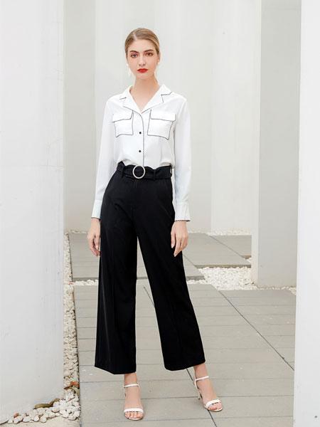 艾丽哲女装品牌2020春夏新款纯色铅笔裤