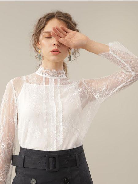 CHEN ZHAN.尘辗女装品牌2020春夏新款蕾丝缕空上衣