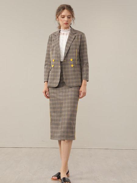 CHEN ZHAN.尘辗女装品牌2020春夏新款格子裙子套装