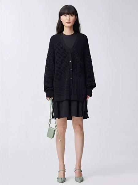 Less.女装品牌2020春夏新款纽扣连衣裙套装