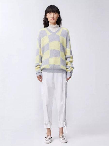 Less.女装品牌2020春夏新款格子长袖卫衣