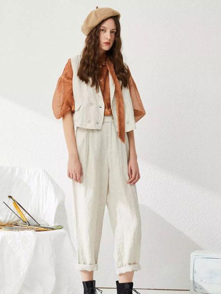 女性日记女装品牌2020春夏新款白色纽扣马甲