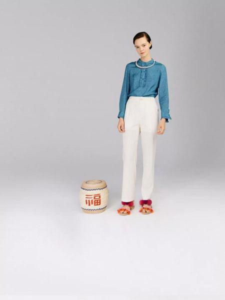 阿尤a-you女裝品牌2020春夏立領純色紐扣襯衫