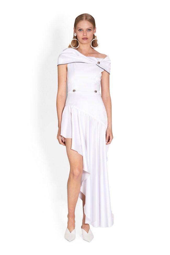 NICOLA FINETTI国际品牌品牌2020春夏新款纯色性感连衣裙