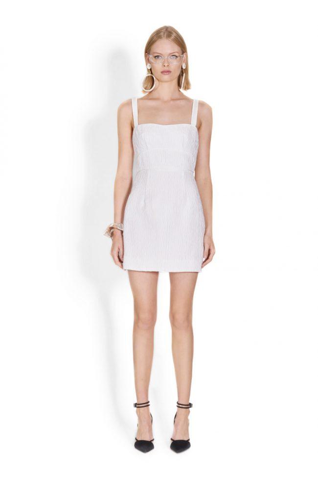 NICOLA FINETTI国际品牌品牌2020春夏新款白色简洁吊带连衣裙
