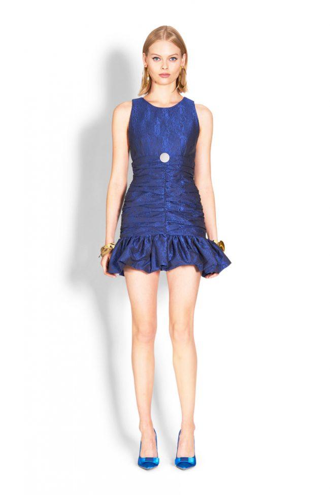 NICOLA FINETTI国际品牌品牌2020春夏新款纯色简洁无袖连衣裙