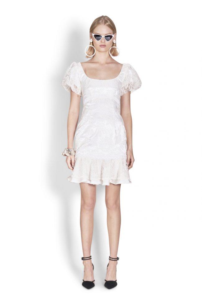 NICOLA FINETTI国际NICOLA FINETTI国际品牌品牌2020春夏新款白色蕾丝无袖连衣裙